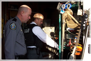 Actively participating in search warrants within our community