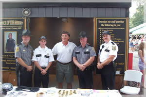 Sheriff Gary Hofmann withy Governor Bob Ehrlich and Staff