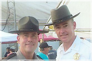 Sheriff Gary Hofmann partners with Sheriff Dallas Pope from Talbot County