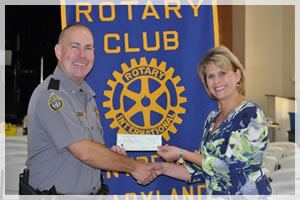 Working with local civic groups, like the Rotary